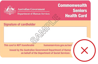 Commonwealth Sentiors Health Card